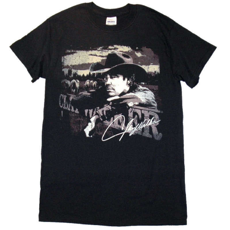 Clay Walker Black Retro Tee