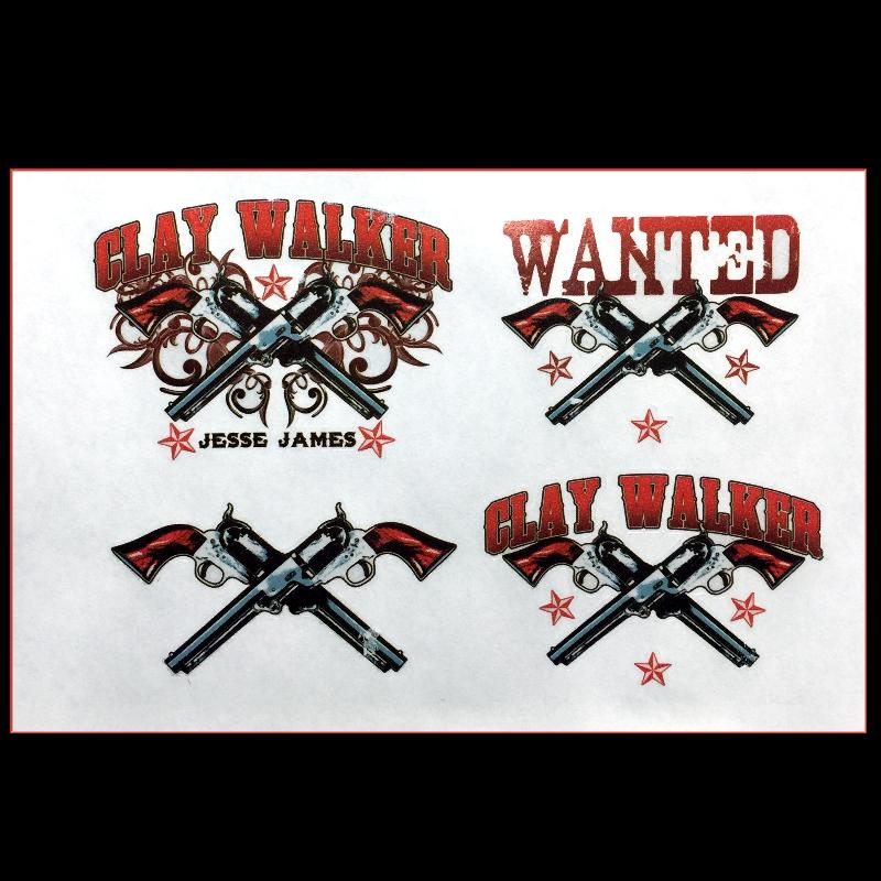Clay Walker Tattoo Sheet