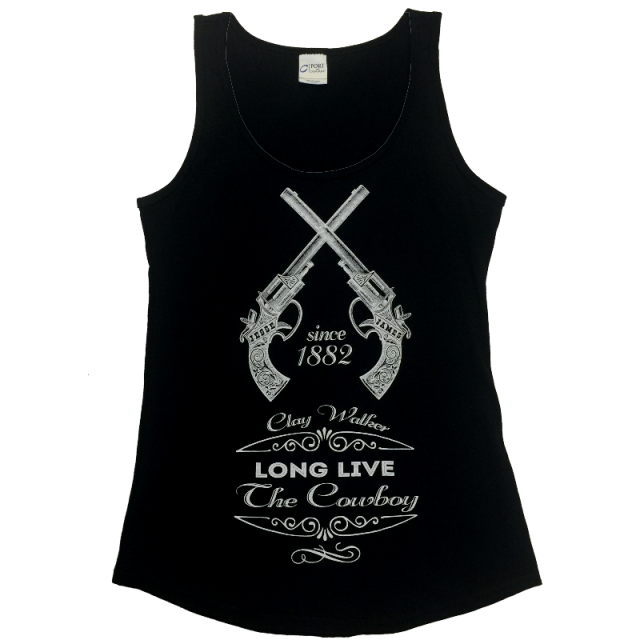 Clay Walker Ladies Jet Black Tank Top