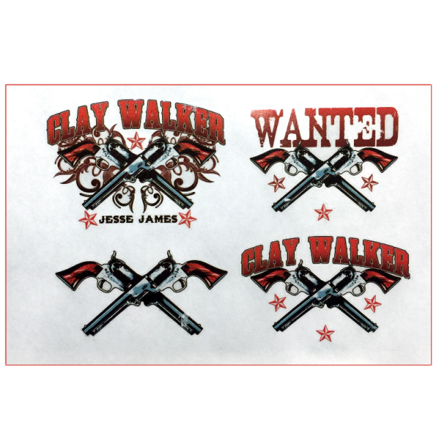 Clay Walker Tattoo Sheet