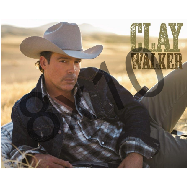 Clay Walker 8x10- Denim Jacket