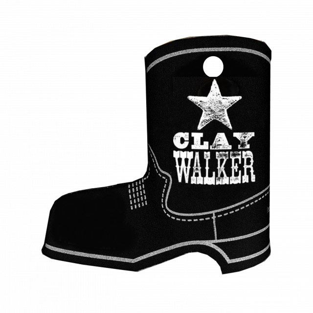 Clay Walker Black Boot Koozie- Logo