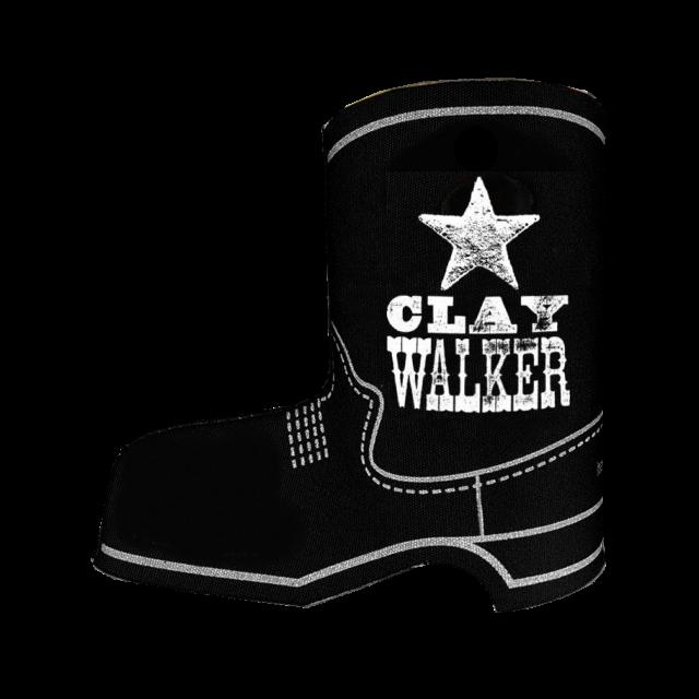 Clay Walker Black Boot Koozie- Logo