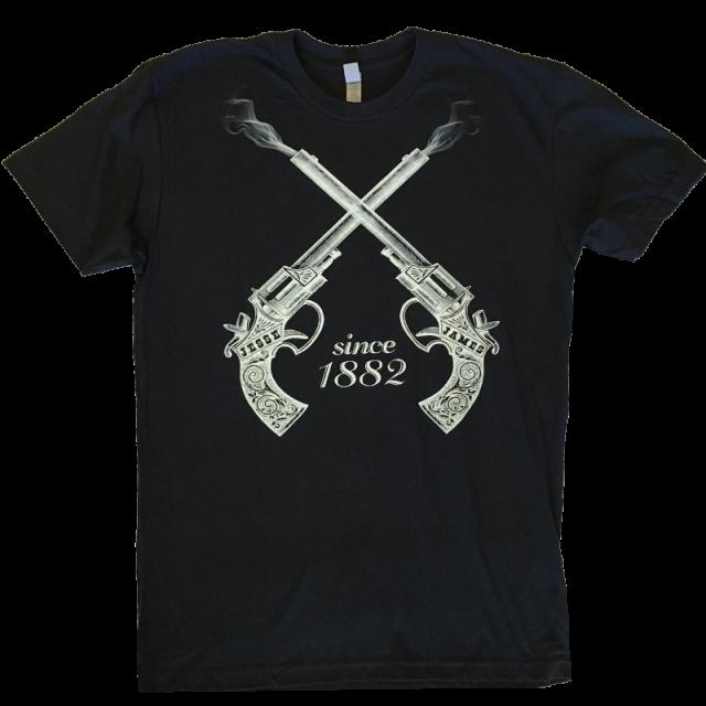 Clay Walker Black Tee- Jesse James Since 1882