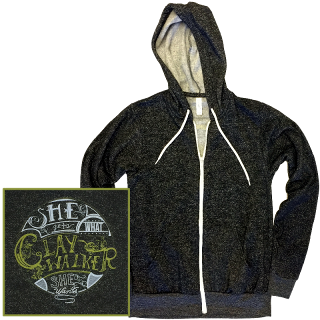 Clay Walker Digital Black Zip Up Hoodie