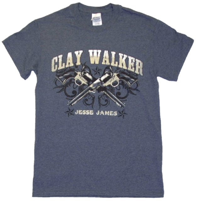 Clay Walker Heather Navy Tee