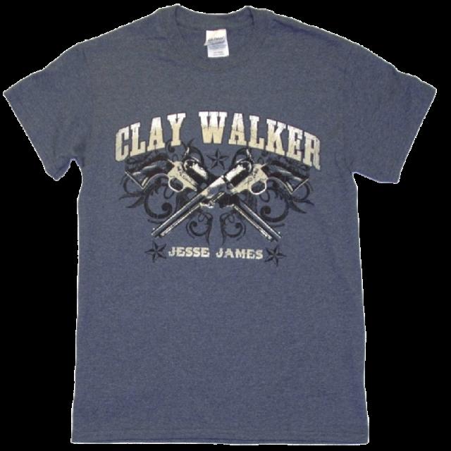 Clay Walker Heather Navy Tee