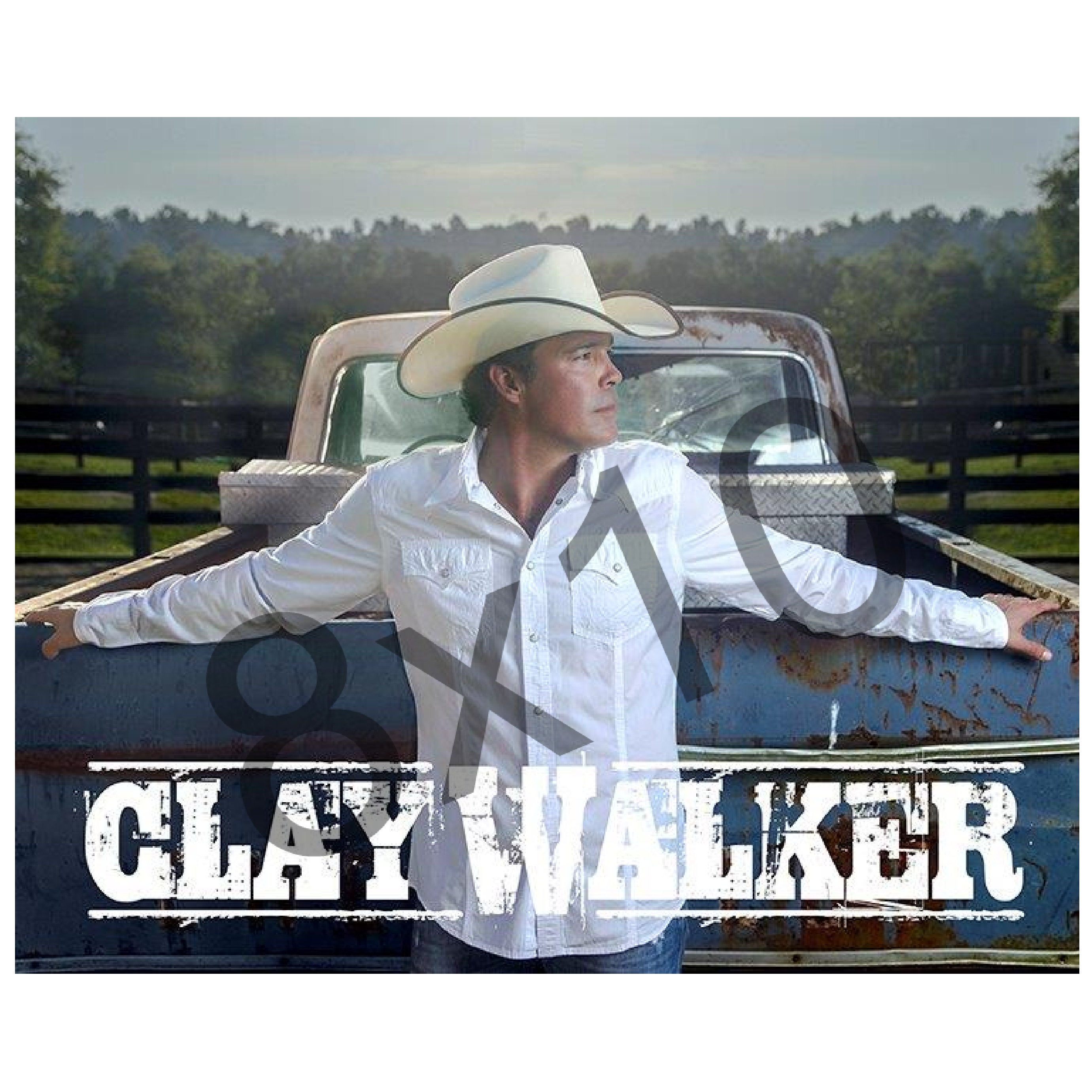 Clay Walker 8x10- White Shirt