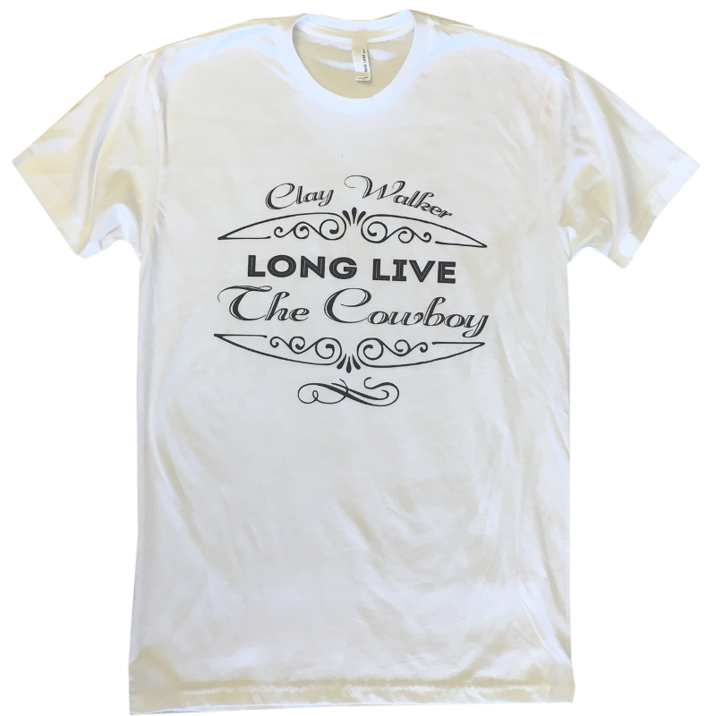 Clay Walker White Long Live the Cowboy Tee