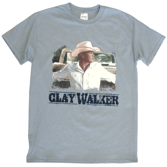 Clay Walker Stone Blue Photo Tee