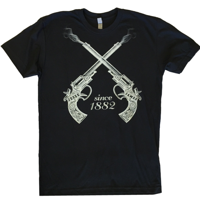 Clay Walker Black Tee- Jesse James Since 1882