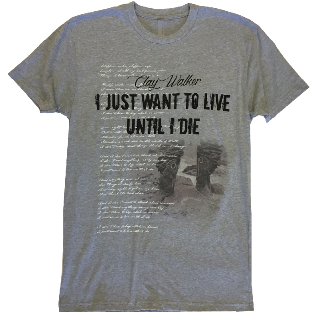 Clay Walker Heather Grey Lyric Tee